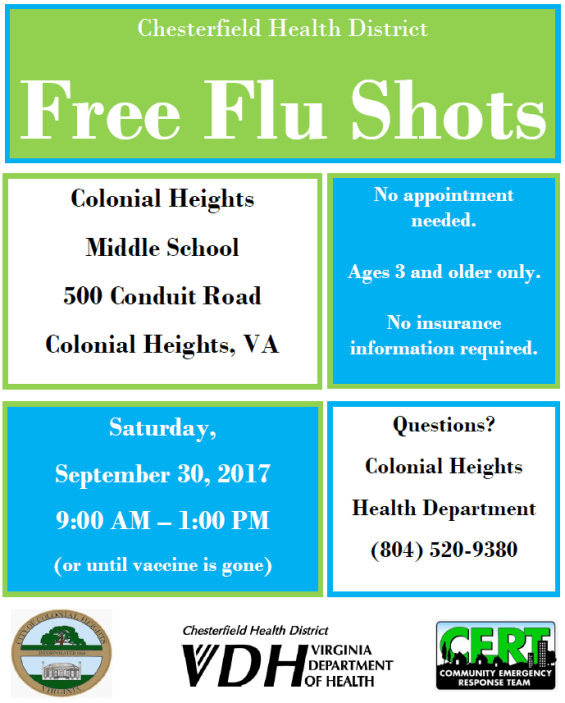 CHMS Flu Shots Flyer 9-2017