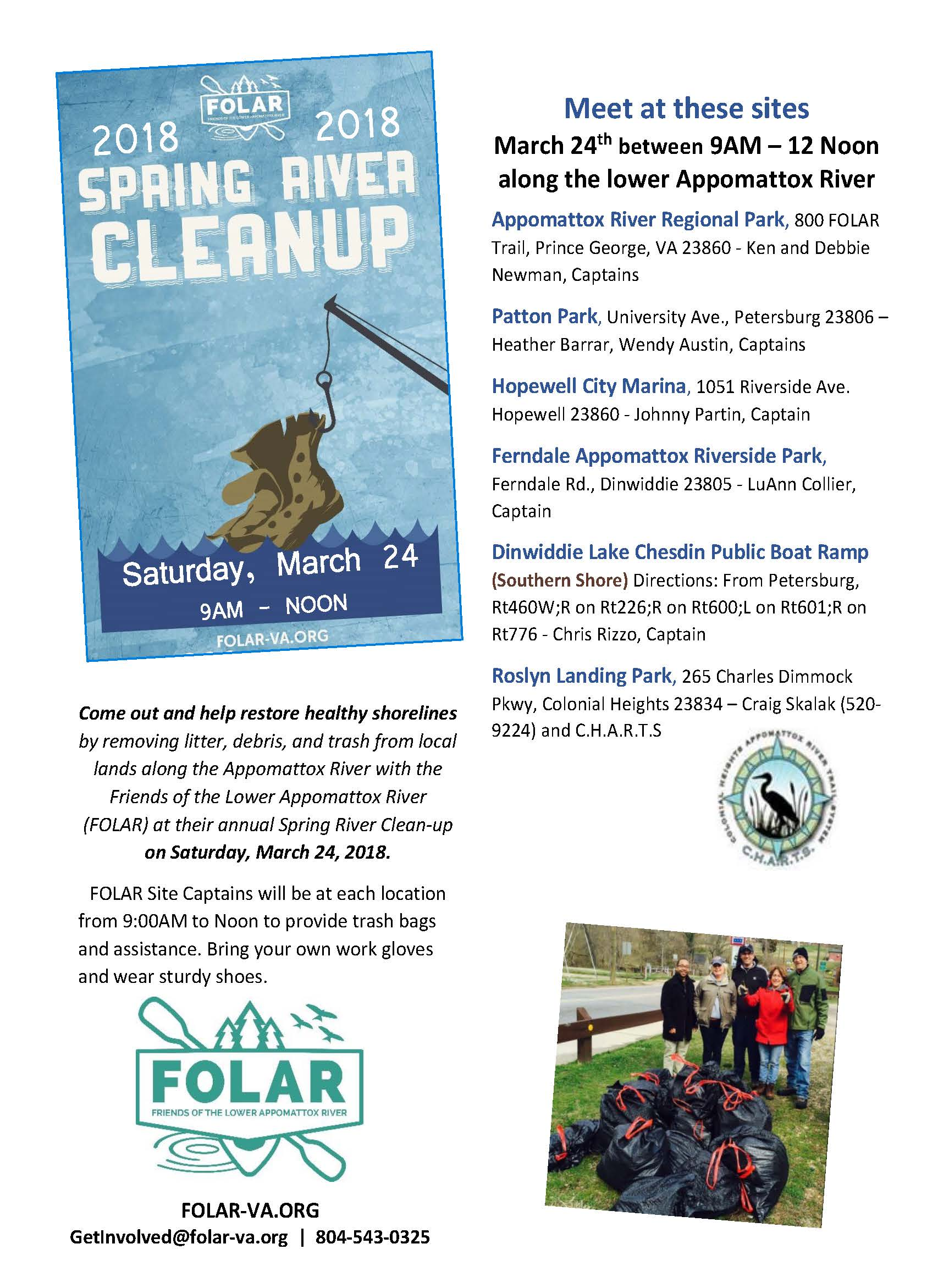 FOLAR 2018 Spring Cleanup