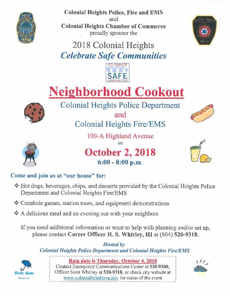 2018 Safe Communities Night Event Flyer