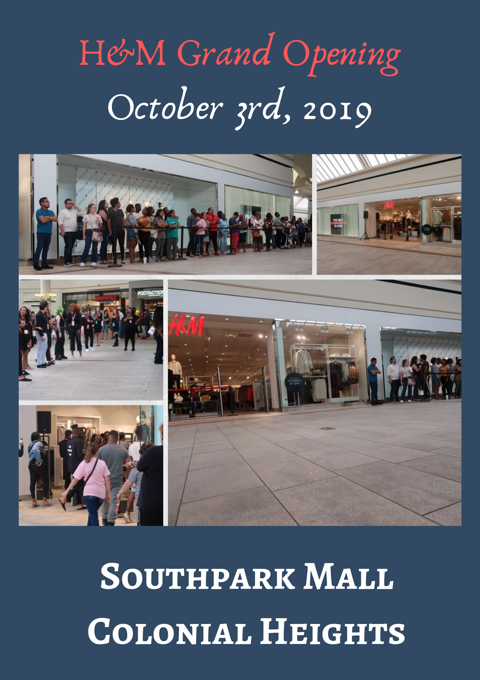 Pictures from the Grand Opening of H&M at Southpark Mall on October 3rd.