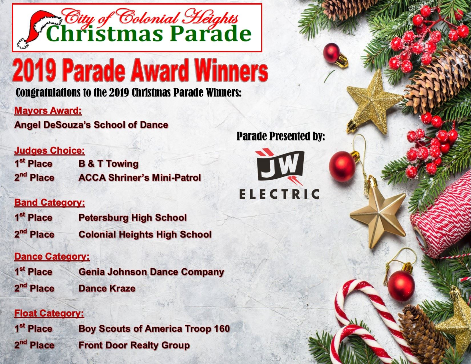 2019 Parade award winners announcement